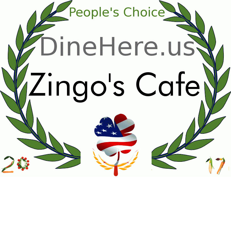 Zingo's Cafe DineHere.us 2017 Award Winner